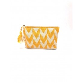 Mustard yellow clutch bag