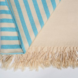 Cotton Fouta (towel) - Blue