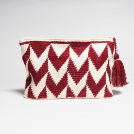 Red burgundy clutch bag