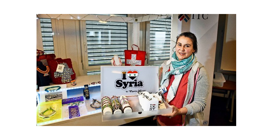 Rania and her fashion project I Love Syria.